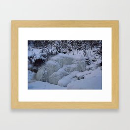 Building Ice in Maligne Canyon in Jasper National Park, Canada Framed Art Print