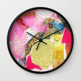 Pink Collage Wall Clock