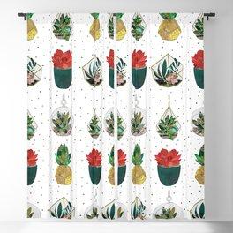 Festive Succulents Blackout Curtain