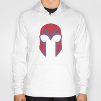 magneto Hoodies featuring Magneto Helmet by Minimalist Heroes
