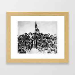 Teddy Roosevelt And The Rough Riders Framed Art Print