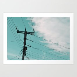 Electric cable Art Print