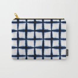 Shibori Squares Carry-All Pouch