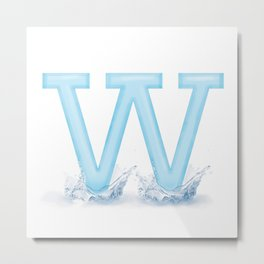 W is for Water Metal Print
