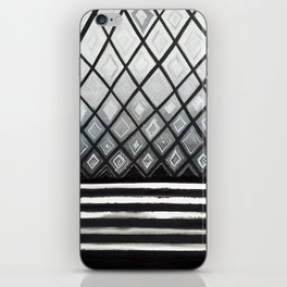 Woven Basked Diamond Ombre in Silver and Black iPhone Skin