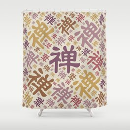 Japanese Zen Symbol pattern - pastels Shower Curtain