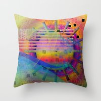 submarine Throw Pillows featuring submarine by Kay Weber