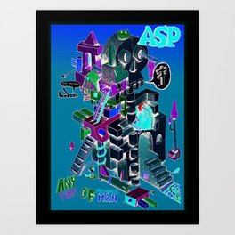 Any form of mechanical man. Art Print