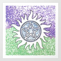 supernatural Art Prints featuring Supernatural by Beastie Toyz