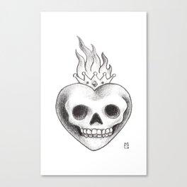 La de corazón Canvas Print