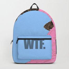 WTF - Grease Movie Vibes Got Me Like - Fan Art Digital Throwback Drawing Backpack