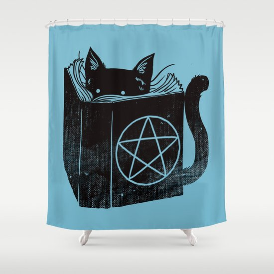 WITCHCRAFT CAT (Blue) Shower Curtain
