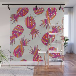 Geometric Pineapples Summer Print Wall Mural