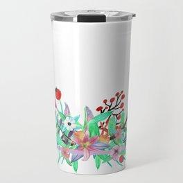 Bordered Bouquet Travel Mug