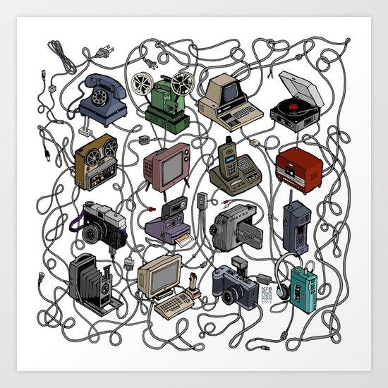Retro Electronics Art Print