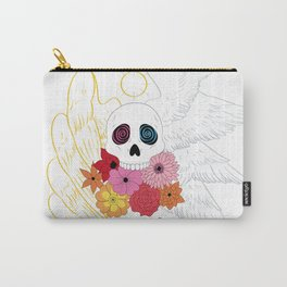 Feathers and Flowers Carry-All Pouch