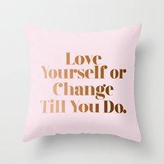 Love Yourself #society6 #decor #buyart Throw Pillow