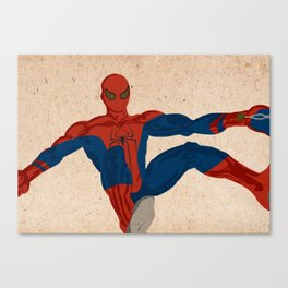 spiderman, spiderman does whatever a spider can Canvas Print