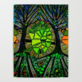 Stained glass Forest Poster