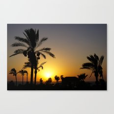 Sunset in Holy Land Canvas Print