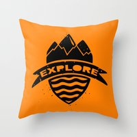 explore Throw Pillows featuring Explore  by Dylan Morang