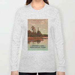 Grundy Lake Provincial Park Poster Long Sleeve T-shirt