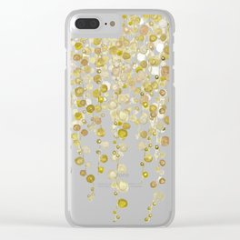 golden string of pearls watercolor 2 Clear iPhone Case