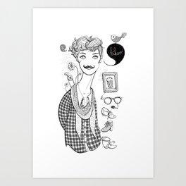 Kikoo! Art Print