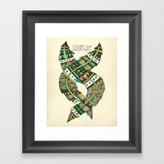 Soulmate Feathers Framed Art Print