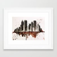nyc Framed Art Prints featuring NYC by Rosalia Mendoza