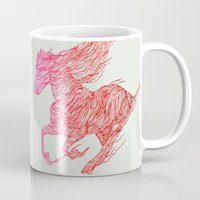 horse Mugs featuring Horse by Huebucket