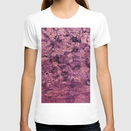 psychedelic grunge painting abstract texture in pink T-shirt