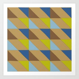 triangle shift - cocoa contrast  | flavour-based graphic pattern Art Print