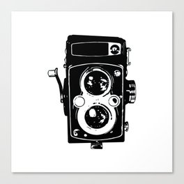 Big Vintage Camera Love - Black Canvas Print