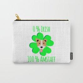 0 Percent Irish 100 Percent Amstaff Dog Lovers St. Patrick's Carry-All Pouch