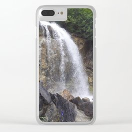 White Pass Waterfall Clear iPhone Case