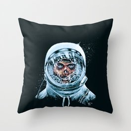 Zombie Spaceman Throw Pillow