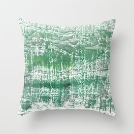 Sea green blurred watercolor pattern Throw Pillow