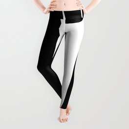 Modern Thick Black & White Linear Abstract II Leggings