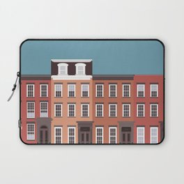 West Village NYC Travel Poster Laptop Sleeve