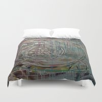 baroque Duvet Covers featuring Baroque Scroll by Azure Cricket