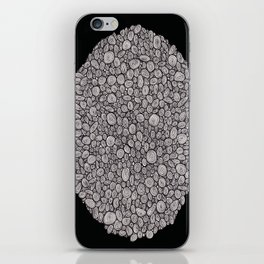 Black and white abstract iPhone Skin