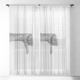 hands 2 - flop Sheer Curtain