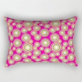 Circles on pink background Rectangular Pillow
