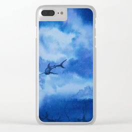 Ink sharks Clear iPhone Case