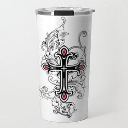 Gothic cross Travel Mug