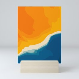 Seascape aerial view Mini Art Print