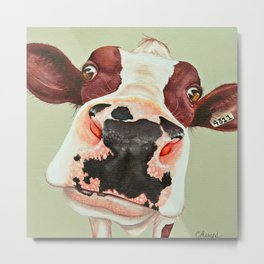 Cow Peggy Metal Print