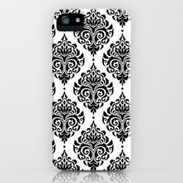 Black and White Damask iPhone Case