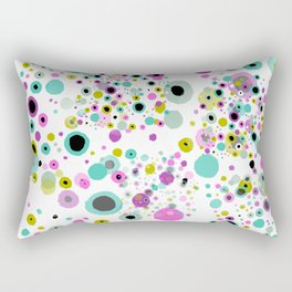 Bubble Party White Background Rectangular Pillow